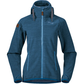 Bergans Hareid Fleece Jacket Damen stone blue melange